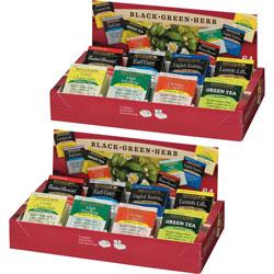 Bigelow Tea Company Tea Tray Packs, 8 Assorted Teas, 128/BX