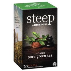 Bigelow Tea Company steep Tea, Pure Green, 0.91 oz Tea Bag, 20/Box