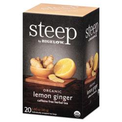 Bigelow Tea Company steep Tea, Lemon Ginger, 1.6 oz Tea Bag, 20/Box