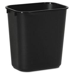 Boardwalk Soft-Sided Wastebasket, 14 qt, Plastic, Black