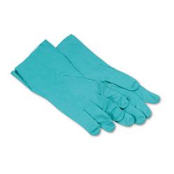 Boardwalk Nitrile Flock-Lined Gloves, X-Large, Green, Dozen