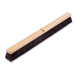 Boardwalk Floor Brush Head, 3 1/4 in Maroon Stiff Polypropylene, 36 in