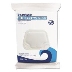 Boardwalk Premoistened Personal Washcloths, 12 1/2 x 7 9/10, Fresh Scent, 48/Pack