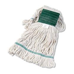 Boardwalk Super Loop Wet Mop Head, Cotton/Synthetic Fiber, 5 in Headband, Medium Size, White