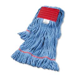 Boardwalk Super Loop Wet Mop Head, Cotton/Synthetic Fiber, 5 in Headband, Large Size, Blue