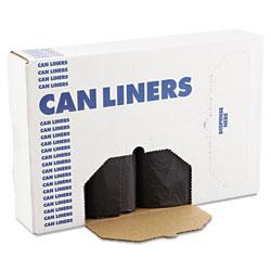 Boardwalk Low Density Repro Can Liners, 56 gal, 1.2 mil, 43 in x 47 in, Black, 100/Carton