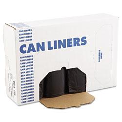 Boardwalk Low Density Repro Can Liners, 60 gal, 1.6 mil, 38 in x 58 in, Black, 100/Carton