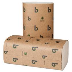 Boardwalk Boardwalk Green Single-Fold Towels, Natural White,9 1/8x10 1/4, 250/Pk,16 Pks/CT