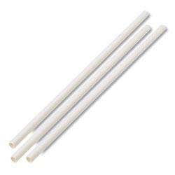 Boardwalk Unwrapped Paper Straws, 7 3/4 in x 1/4 in White, 4800 Straws/Carton