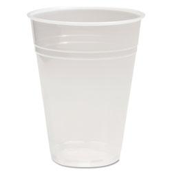 Boardwalk Translucent Plastic Cold Cups, 10 oz, Polypropylene, 10 Cups/Sleeve, 100 Sleeves/Carton