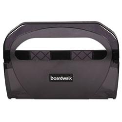 Boardwalk Toilet Seat Cover Dispenser, Plastic, 17 1/4 x 3 1/8 x 11 3/4, Smoke Black