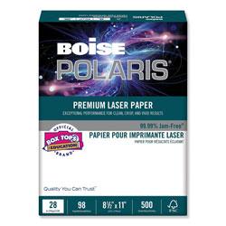 Boise POLARIS Premium Laser Paper, 98 Bright, 28lb, 8.5 x 11, White, 500/Ream