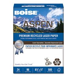 Boise ASPEN Premium Laser Paper, 96 Bright, 24lb, 8.5 x 11, White, 500/Ream