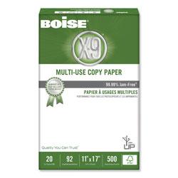 Boise X-9 Multi-Use Copy Paper, 92 Bright, 20lb, 11 x 17, White, 500 Sheets/Ream, 5 Reams/Carton