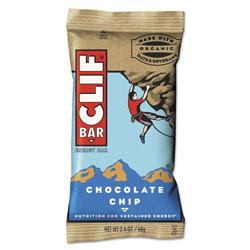 CLIF Bar Energy Bar, Chocolate Chip, 2.4 oz, 12/Box