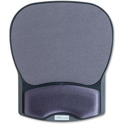 "Compucessory 55302 Charcoal Mouse Pad w/ Gel Wrist Rest, 8 7/10"" x 10 1/5"" x 1 1/5"""
