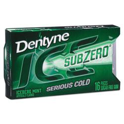 Dentyne Ice® Sugarless Gum, Iceberg Mint, 16 Pieces/Pack, 9 Packs/Box