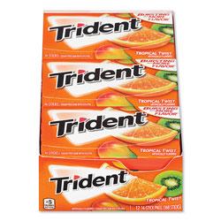 Trident® Sugar-Free Gum, Tropical Twist, 14 Sticks/Pack, 12 Packs/Box