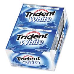 Trident® Sugar-Free Gum, Peppermint, 12 Sticks/Pack, 9 Packs/Box