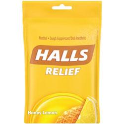 Cadbury Adams Hall Honey-Lemon Cough Drops, 30 Pieces, 12/BX