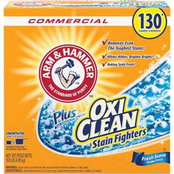 Arm & Hammer® Power of OxiClean Powder Detergent, Fresh, 9.92lb Box, 3/Carton