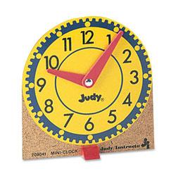 Carson Dellosa 0768223202 Mini Judy Clock Mounted on Wooden Base