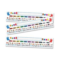 Carson Dellosa Quick Stick Nameplate, 18 in x 4 in, 30/PK, Multi-Color
