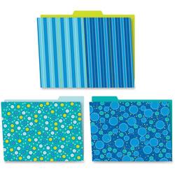 Carson Dellosa Bubbly Blues File Folders, PreK-High Schl, 6/PK, Mulit