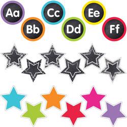Carson Dellosa Accents, Stars/Letters, Cardstock, 108 cutouts