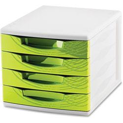 CEP 4-Drawer Module, 11-4/5 in x 14-1/2 in x 10-2/5 in, Green