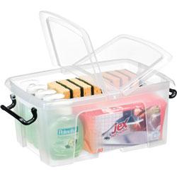 CEP Storage Box, 12 Liter, 11-3/5 inWx15-7/10 inDx7-1/5 inH, Clear