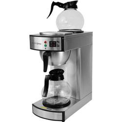 CoffeePro Twin Warmer Institutional Coffee Maker, Stainless Steel