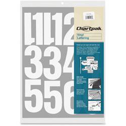 """Chartpak/Pickett Vinyl Numbers, 4"""", White"""