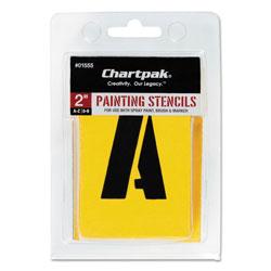 Chartpak/Pickett Painting Stencil Set, A-Z Set/0-9, Manila, 35/Set