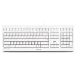 Cherry Keyboard, Wired, 17-3/5 inWx6-1/5 inLx1-1/10 inH,Pale Gray