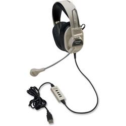 Califone Rugged Headset w/USB Plug, Beige