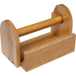 Chenille Kraft Wooden Tape Holder, Brown