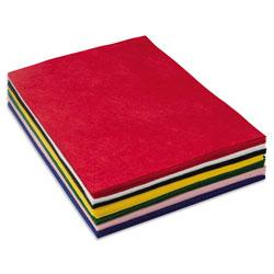 Chenille Kraft One Pound Felt Sheet Pack, Rectangular, 9 x 12, Assorted Colors