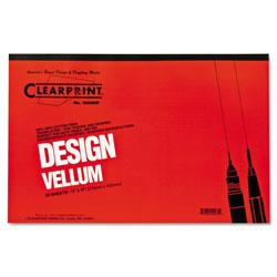 ClearPrint Design Vellum Paper, 16lb, 11 x 17, Translucent White, 50/Pad