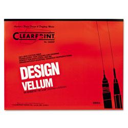 ClearPrint Design Vellum Paper, 16lb, 18 x 24, Translucent White, 50/Pad
