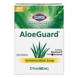 Clorox AloeGuard® Antimicrobial Soap, Aloe Scent, 27 oz Bag, 12/Carton