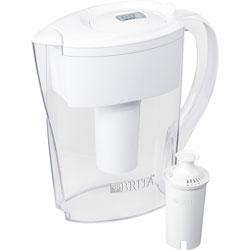 Brita Pitcher w/Water Filter, Brita Space Saver, 6-cup, 2/CT