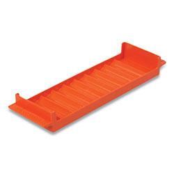 Controltek Coin Tray, Quarters, 10 Compartments, Orange