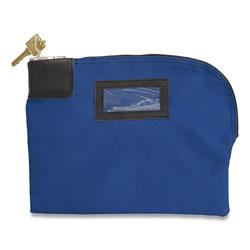 Controltek Fabric Deposit Bag, Locking, 8.5 x 11 x 1, Canvas, Blue