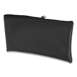 Controltek Fabric Deposit Bag, 6 x 11 x 1, Vinyl, Black