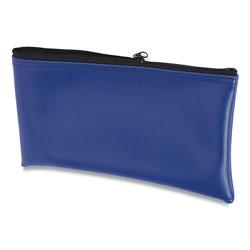 Controltek Fabric Deposit Bag, 6 x 11 x 1, Vinyl, Blue