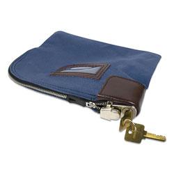 Controltek Fabric Deposit Bag, Locking, 8.5 x 11 x 1, Nylon, Blue