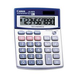 Canon LS100TS Portable Business Calculator, Solar/Battery, 10 Digit Display