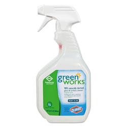 Green Works Glass & Surface Cleaner, Original, 32oz Smart Tube Spray Bottle