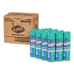 Clorox Disinfecting Spray, Fresh, 19 oz Aerosol, 12/Carton